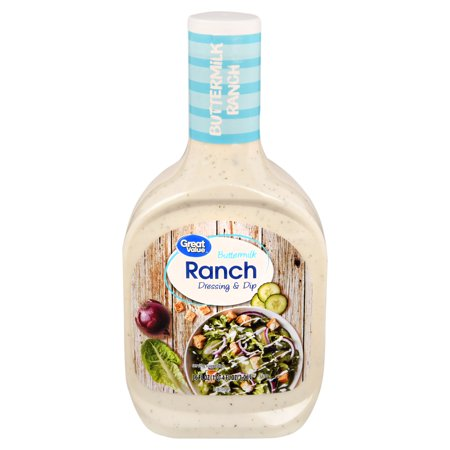 (2 Pack) Great Value Buttermilk Ranch Dressing, 36