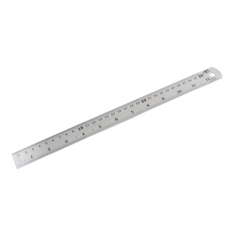 Metric Drawing Scales (Unique Bargains Metric 30cm Scale Stainless Steel Straight Ruler)