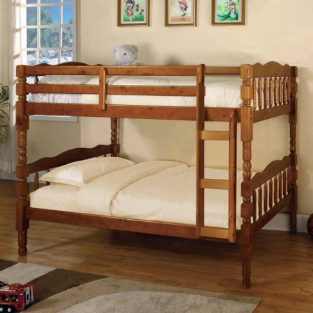 Furniture of america avenue twin over twin bunk bed for Furniture of america pello full over full slatted bunk bed