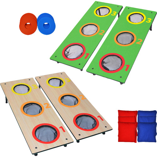 GoSports 3 Hole CornHole, Washer Toss Tailgate Game, 2 Games in 1