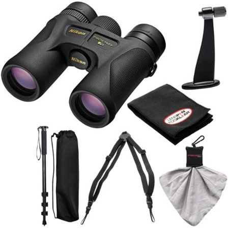 Nikon Prostaff 7S 8x42 ATB Waterproof/Fogproof Binoculars with Case + Harness + Tripod Adapter & Monopod + Kit