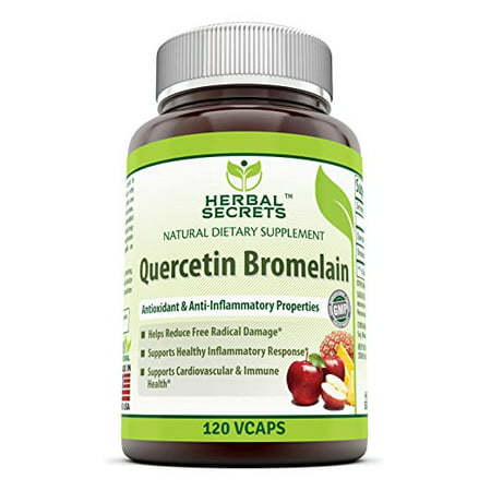 Herbal Secrets Quercetin With Bromelain 800 Mg 120 (Wobenzym N 800 Best Price)