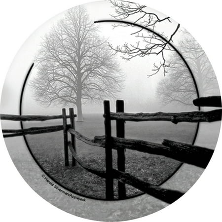 Thirstystone Occasions Drink Coasters, Set, Fence in the Mist