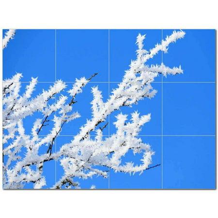 Winter Snow Ceramic Tile Mural Kitchen Backsplash Bathroom Shower 4019