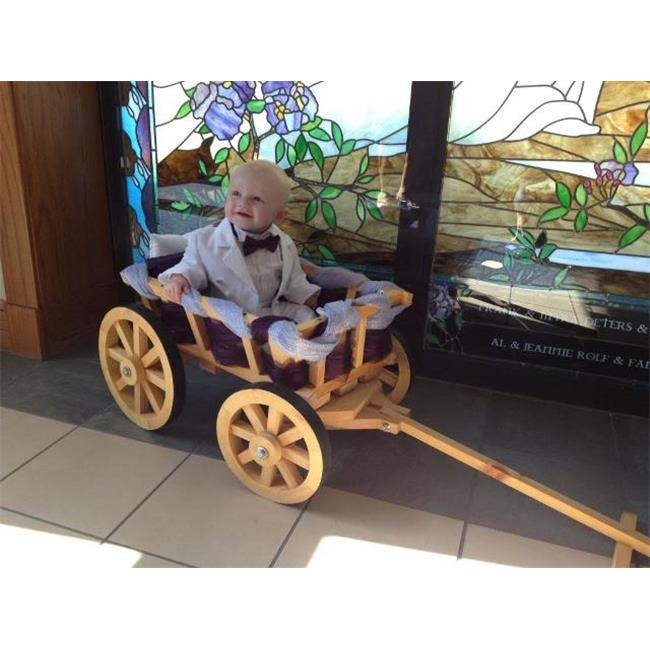 Mini Wedding Wagons Small Flower Girl Pumpkin Wagon, Unfi...