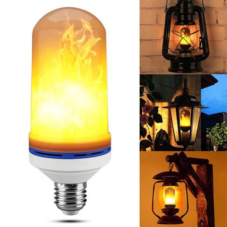 (E26 LED Bulb Flame Effect Fire Light Bulb Flickering Warm Flame Lamp Simulated Decorative)