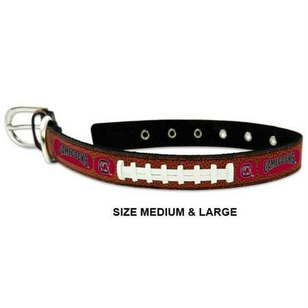 South Carolina Gamecocks Classic Leather Football Collar - Toy