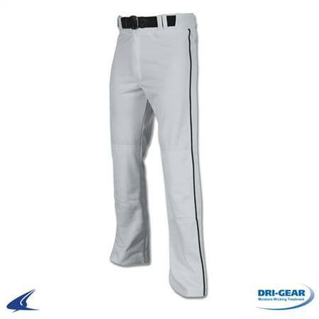 Pro Baseball Pants - champro pro-plus youth open bottom baseball pants with piping