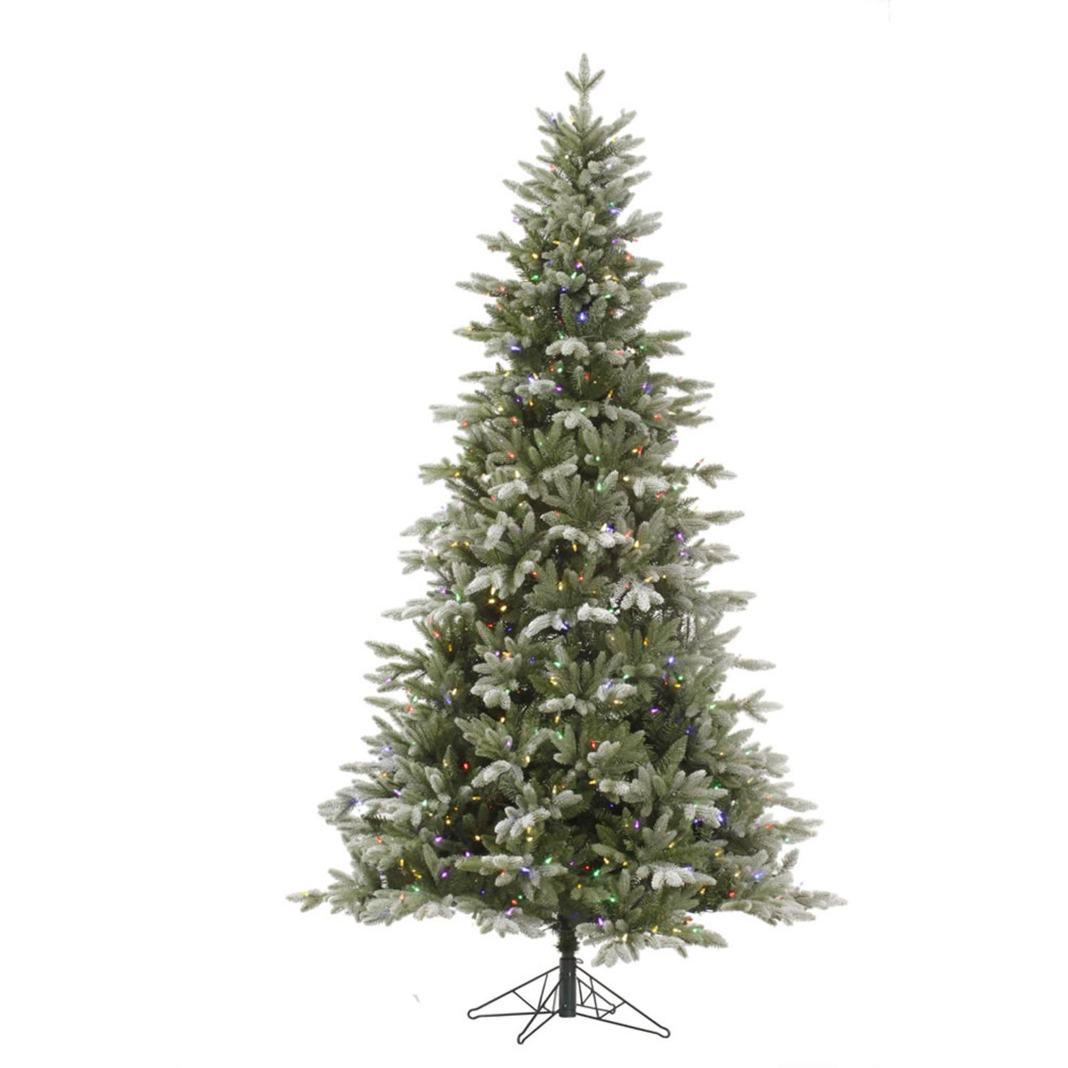 4.5' Pre-Lit Frosted Balsam Fir Medium Artificial Christmas Tree - Multi LED Lights
