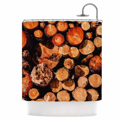 East Urban Home The Lumber Yard Shower Curtain