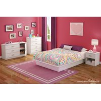 South Shore Smart Basics 3-Drawer Dresser with Door, Chocolate