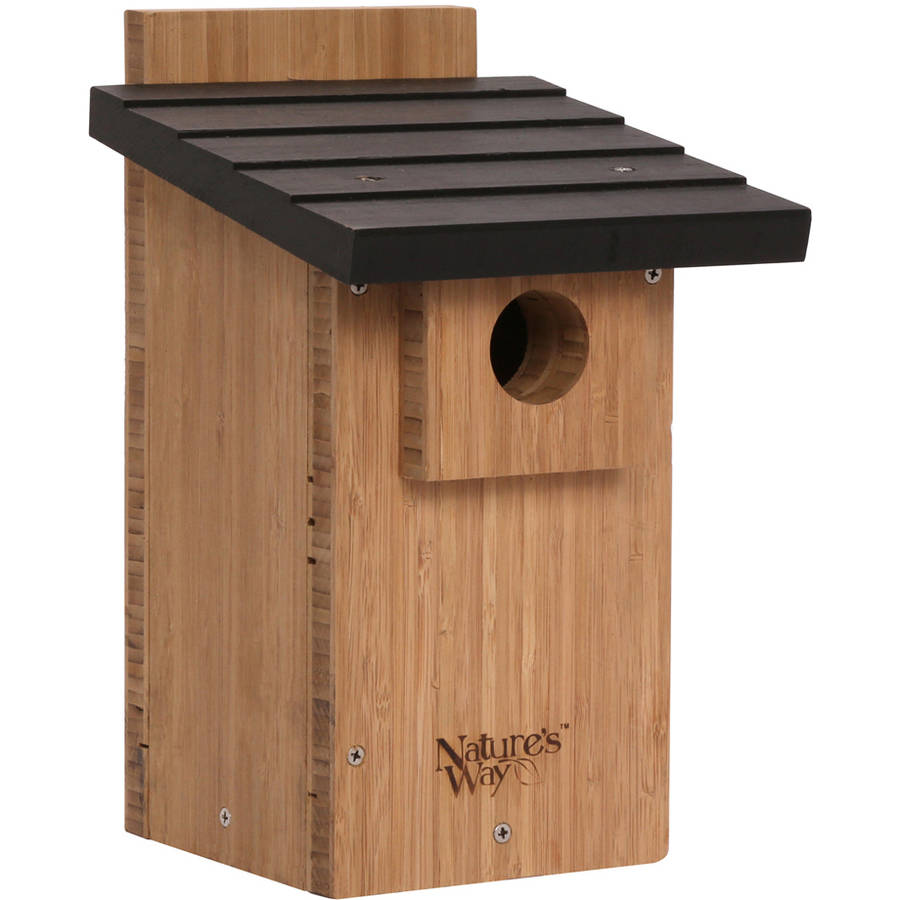 "Nature's Way BWH4 12"" H x 7 1/2"" W x 8-1/8"" H Bamboo Bluebird Veiwing House"