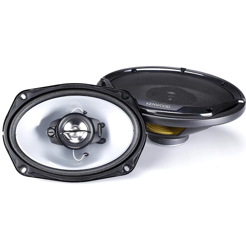 """Kenwood Road Series 6"""" X 9"""" 3-way Car Flush Mount Speaker - Black"""