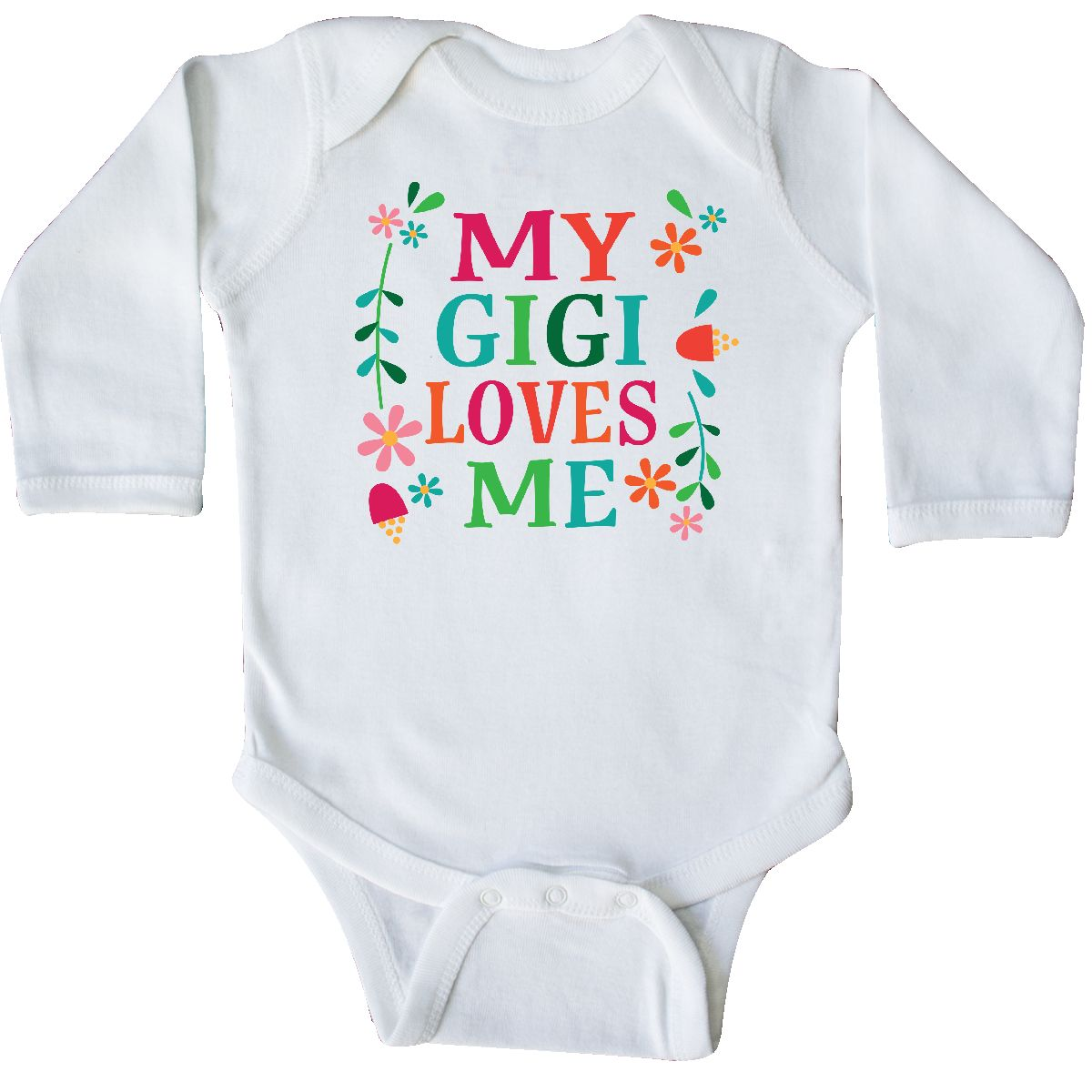 Inktastic My Gigi Loves Me Girls Gift Apparel Long Sleeve Creeper From Childs