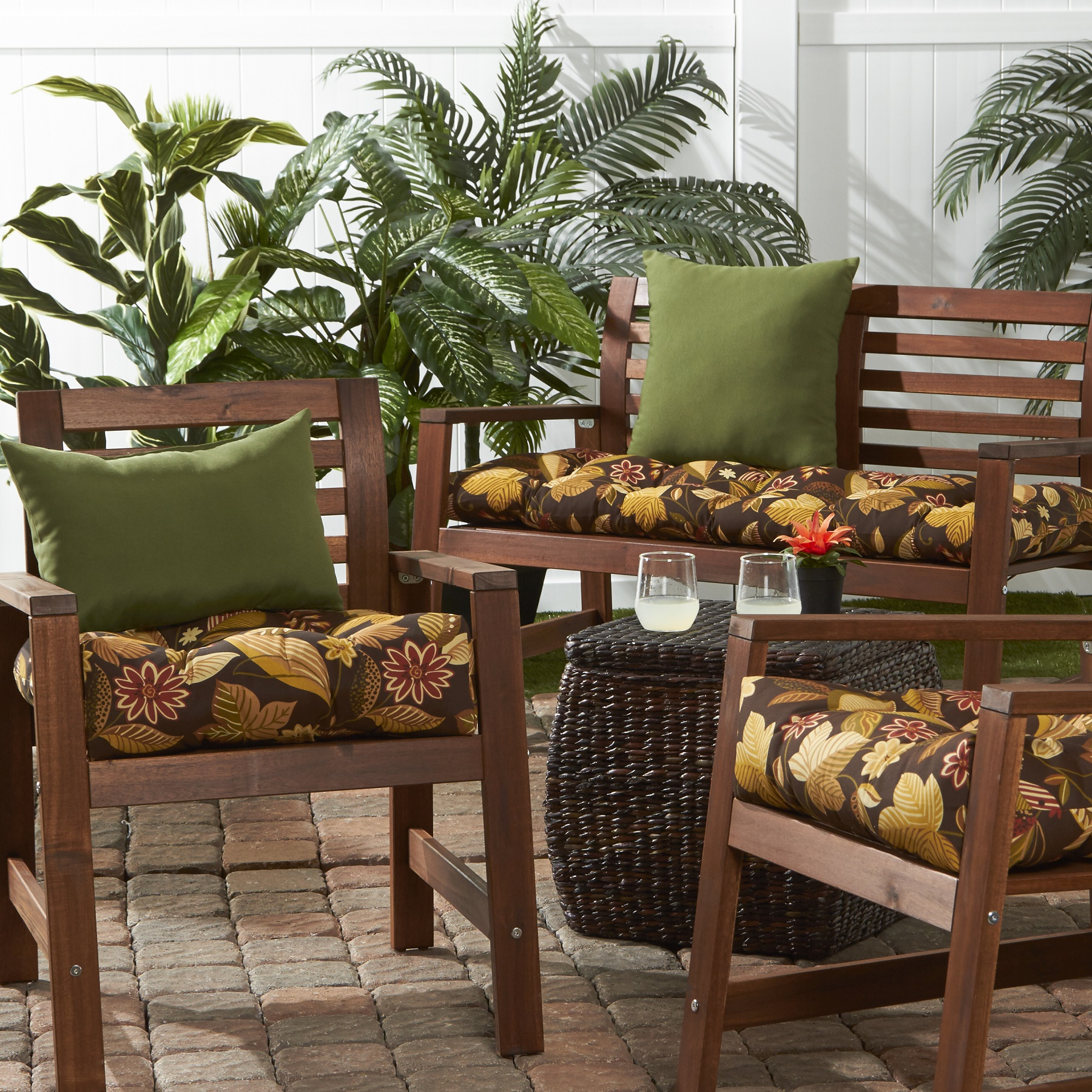 Greendale Home Fashions Timberland Floral Outdoor Cushion Collection