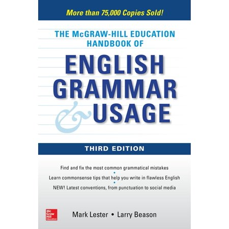 McGraw-Hill Education Handbook of English Grammar &
