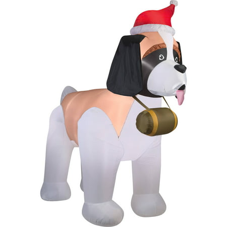 Gemmy Airblown Inflatables Christmas Inflatable Saint Bernard, 9.5'
