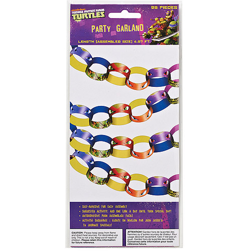 Teenage Mutant Ninja Turtles Hanging Garland Party Decorations, Party Supplies