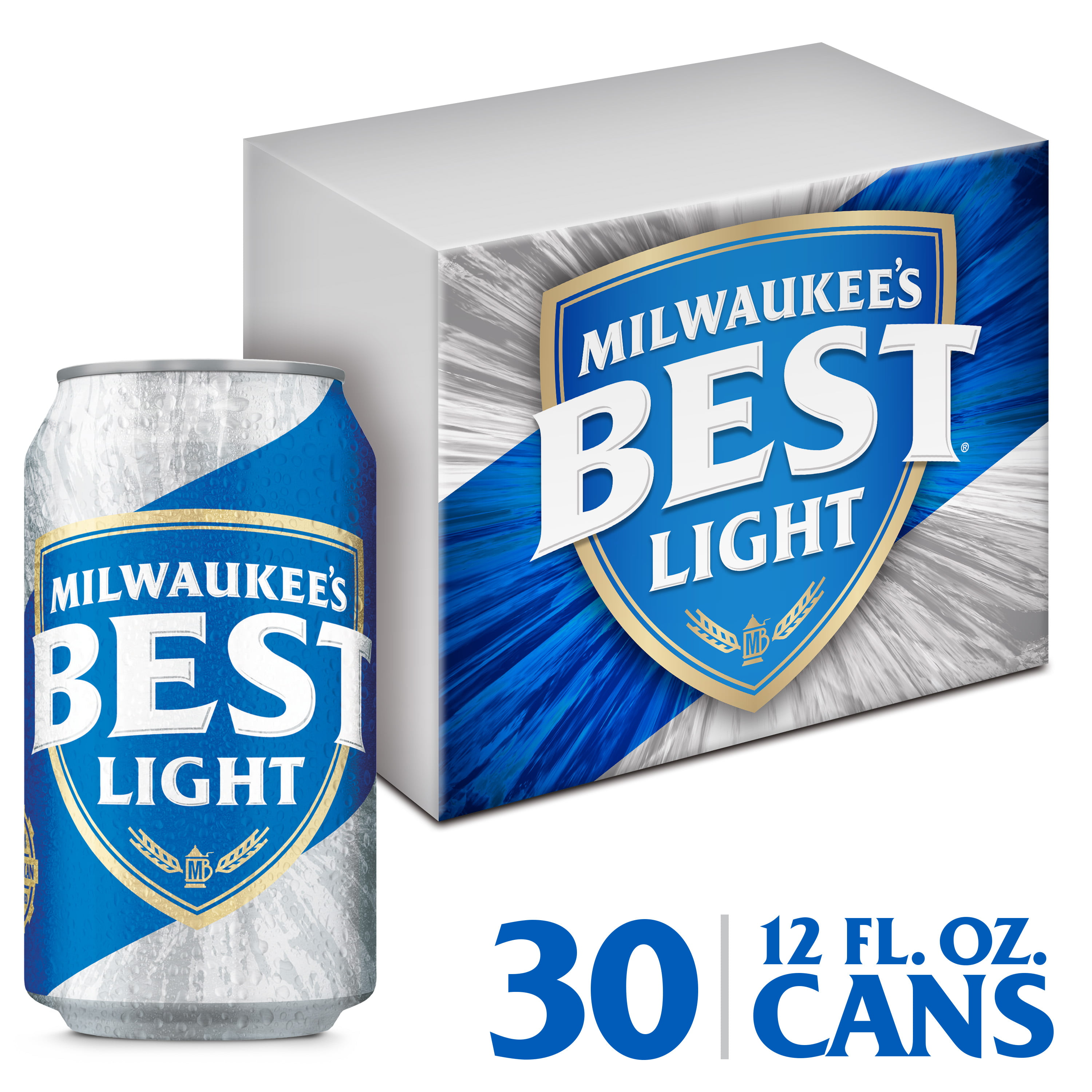 Milwaukee's Best Light Lager Beer, 30 Pack, 12 fl. oz. Cans, 4.1% ABV