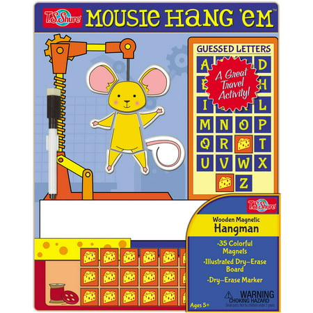 T.S. Shure Hang'Em Mouse Wooden Magnetic Hangman Game
