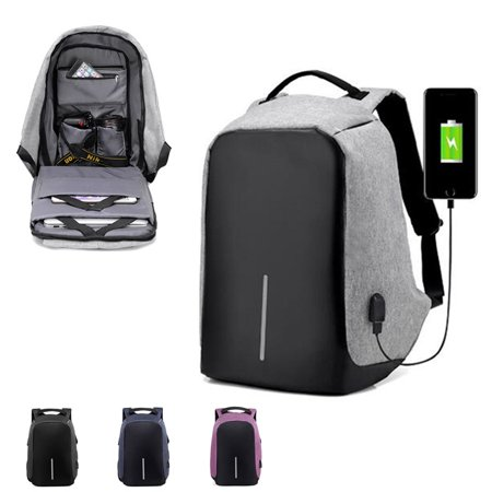 e4193fe3f03 Anti Theft with lock Waterproof Travel Shoulder Bags Backpack with USB  Charging Port Backpack Laptop Backpack Sports Backpack - Walmart.com