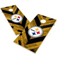 Pittsburgh Steelers 2' x 4' Herringbone Design Cornhole Set