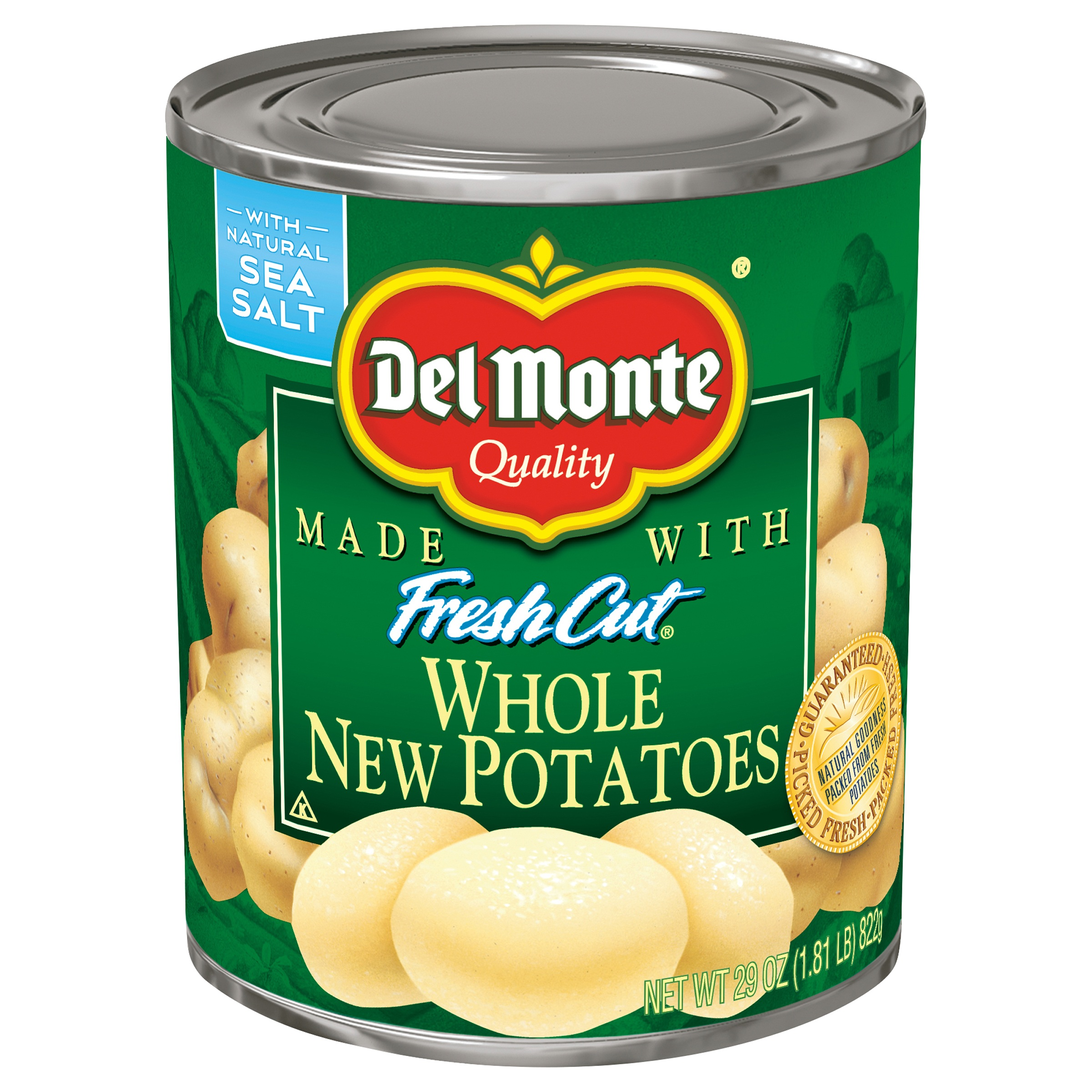 Del Monte Fresh Cut Whole New Potatoes, 29 Oz