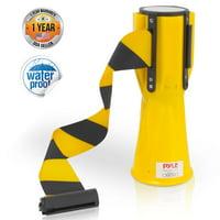 PYLE PCNTP16 - Traffic Cone Emergency Belt - Retractable Traffic Cone Hazard Warning Tape Barrier Belt