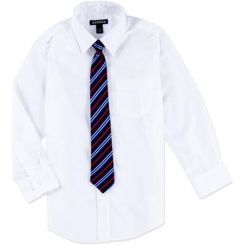 Boys Packaged Dress Shirt-Tie