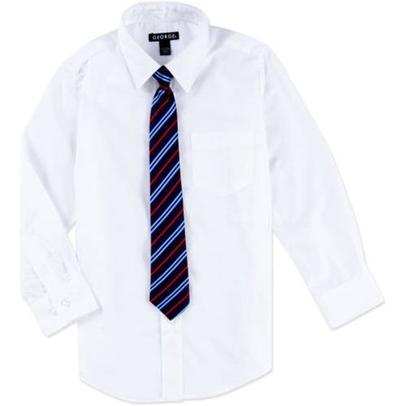 George Packaged Dress Shirt-Tie (Little Boys & Big Boys)