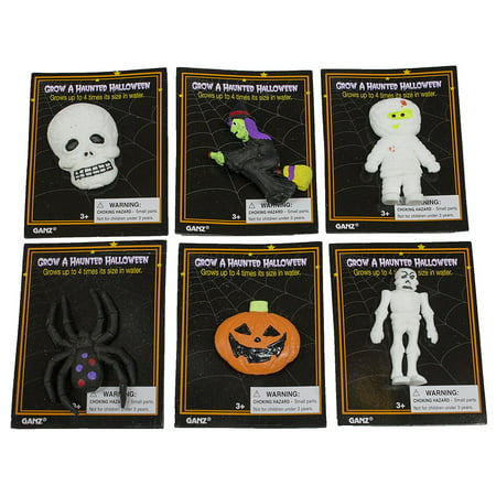 Halloween Party Ad (Grow A Haunted Halloween Spooky Figurines - Grows In Water (SetOf6), Fun Halloween Party Favors, Measures about 2 inches BEFORE putting in.., By Grow A)