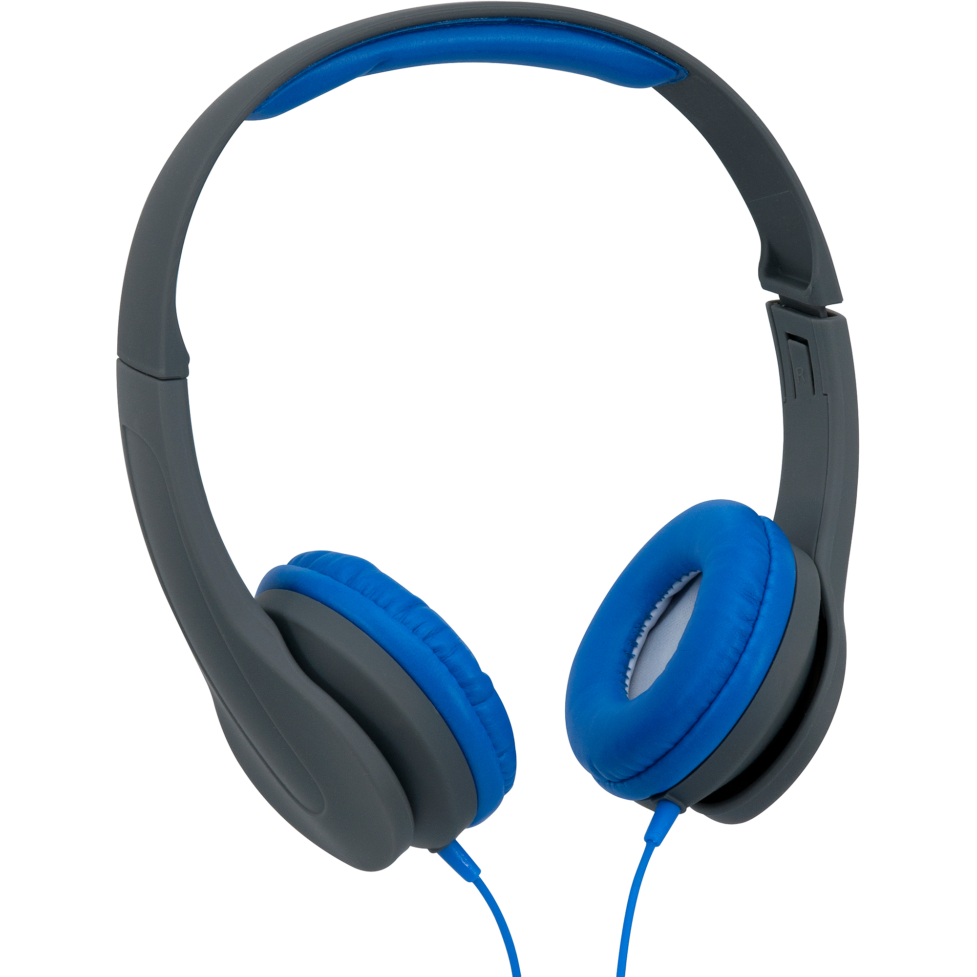 Onn Over-Ear Extra Bass Headphones, Gray/Blue