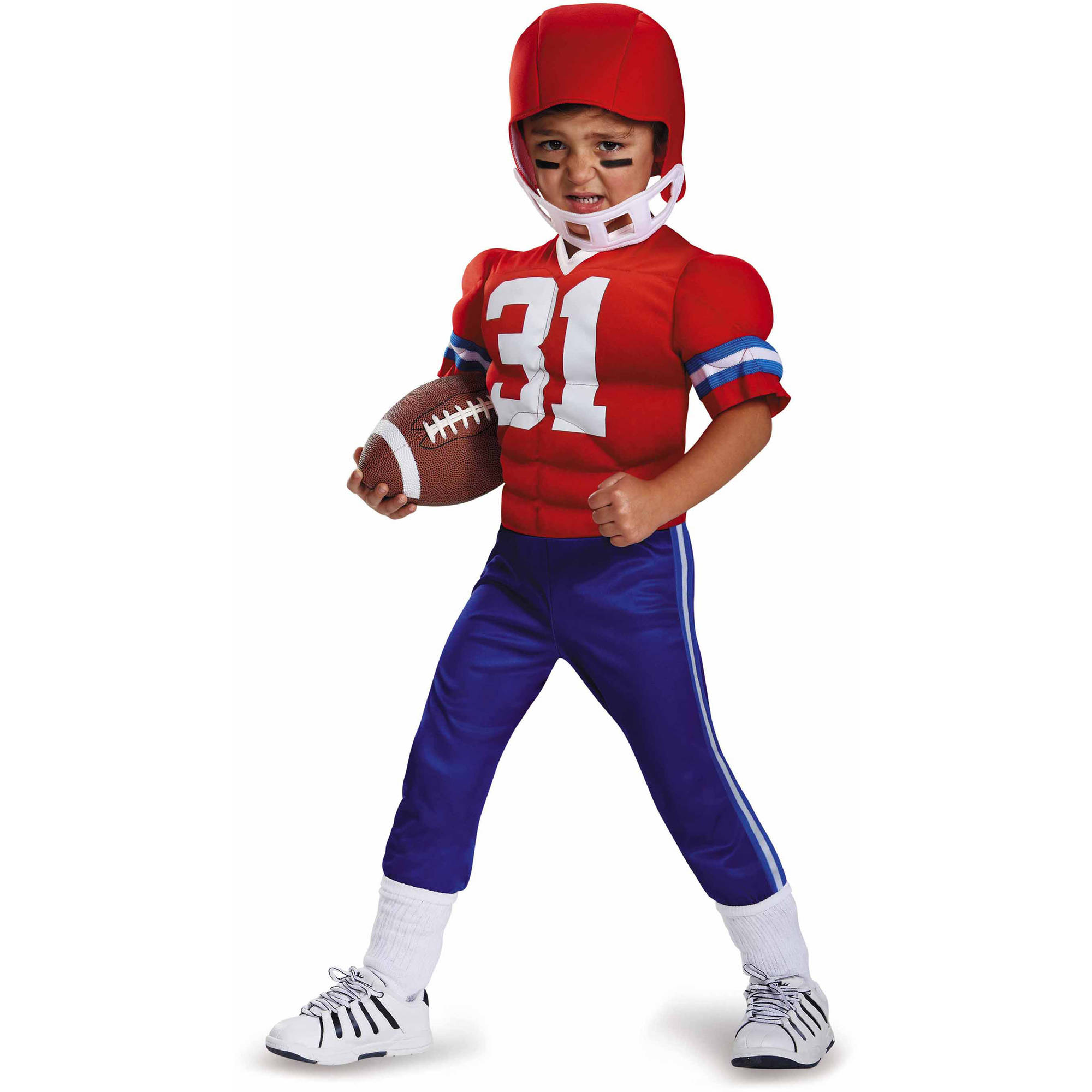 football player toddler muscle costume walmartcom - Halloween Costume Football