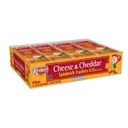 Keebler Cheese & Cheddar Baked Sandwich Crackers Tray 11 oz 8 ct