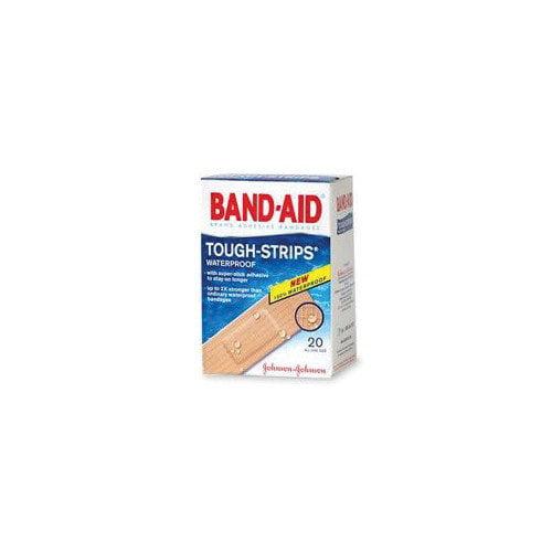 JOHNSON & JOHNSON                                  X 3 1/4'' BAND-AID  Touch Strips  Waterproof Bandages (20 Per Box) (Set of 5)