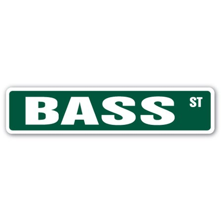 Hook Sign (BASS Street Sign fish fishing boat hook funny | Indoor/Outdoor |  24