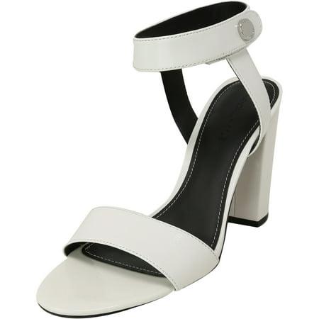 Kendall + Kylie Women's Rowan 3 White Ankle-High Leather Heel - 9M White High Heel Pumps