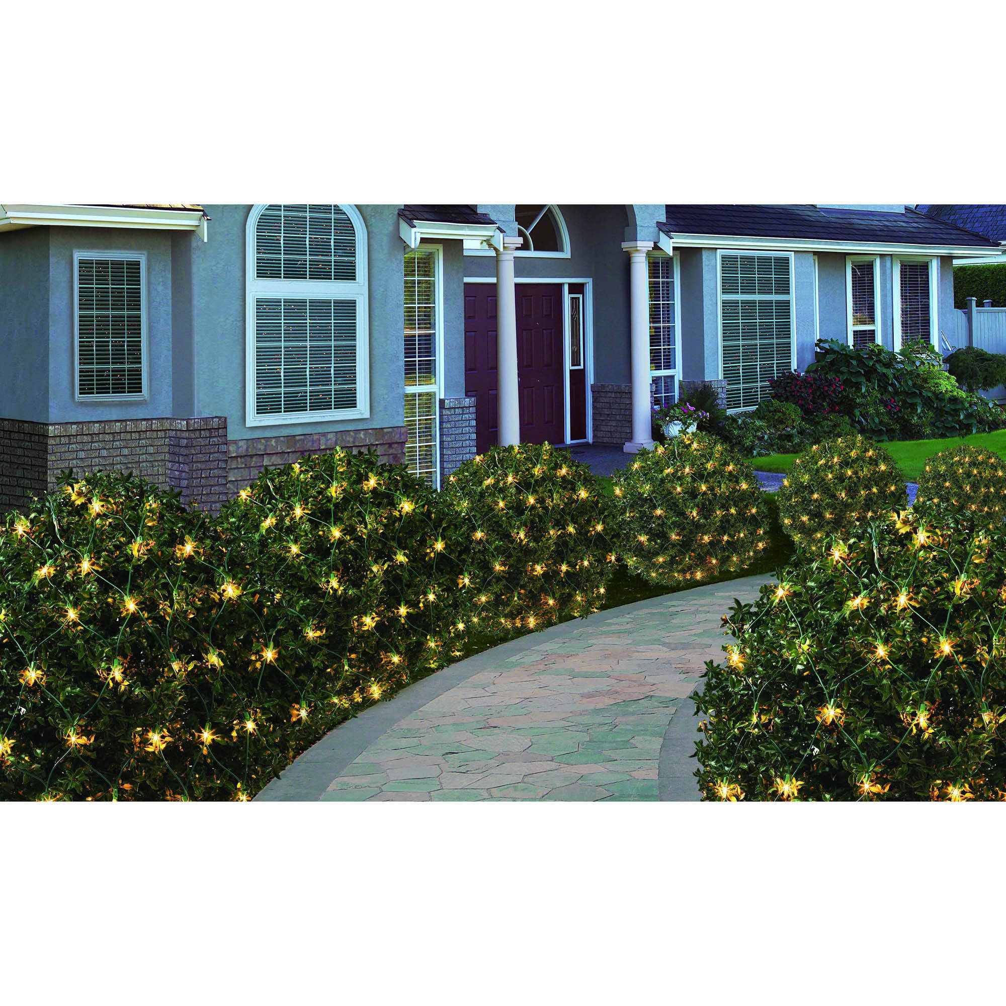 200ct holiday time clear high density net christmas lights walmartcom