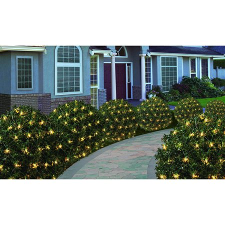 200ct holiday time clear high density net christmas lights