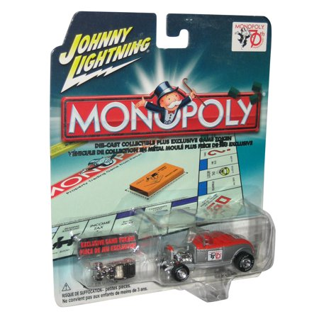Monopoly Johnny Lightning Die-Cast Toy Car w/ Exclusive Game Token