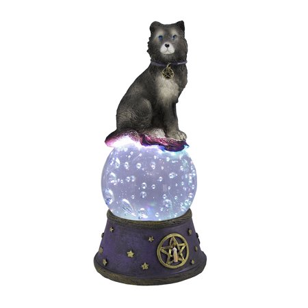 Majestic Wolf LED Light Crystal Ball Statue Pagan Wicca Pentacle