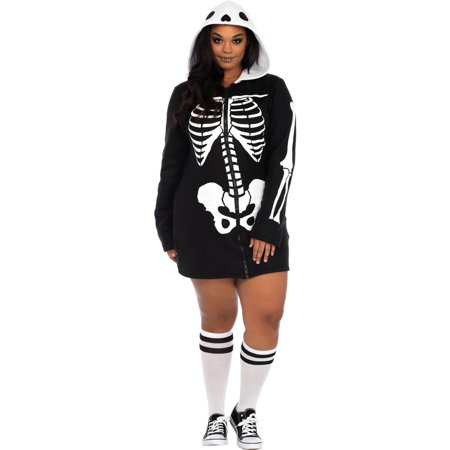 Leg Avenue Womens Plus Size Cozy Skeleton