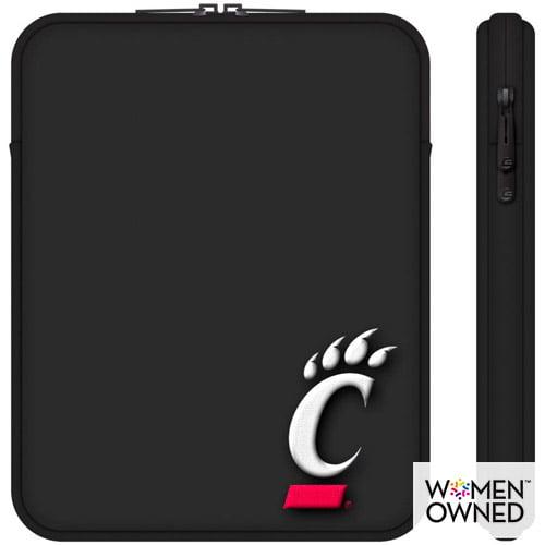 "Centon 10"" Classic Black Tablet Sleeve University of Cincinnati"