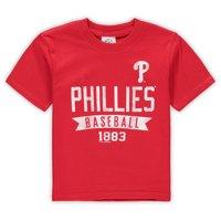 Philadelphia Phillies Soft as a Grape Toddler Logo Wordmark T-Shirt - Red