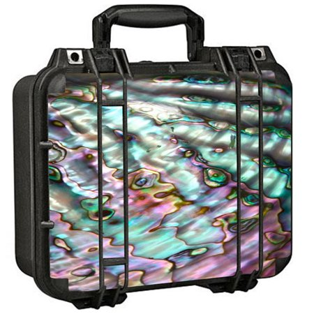 Skin Decal For Pelican 1400 Case / Abalone Pink Green Purple Sea Shell