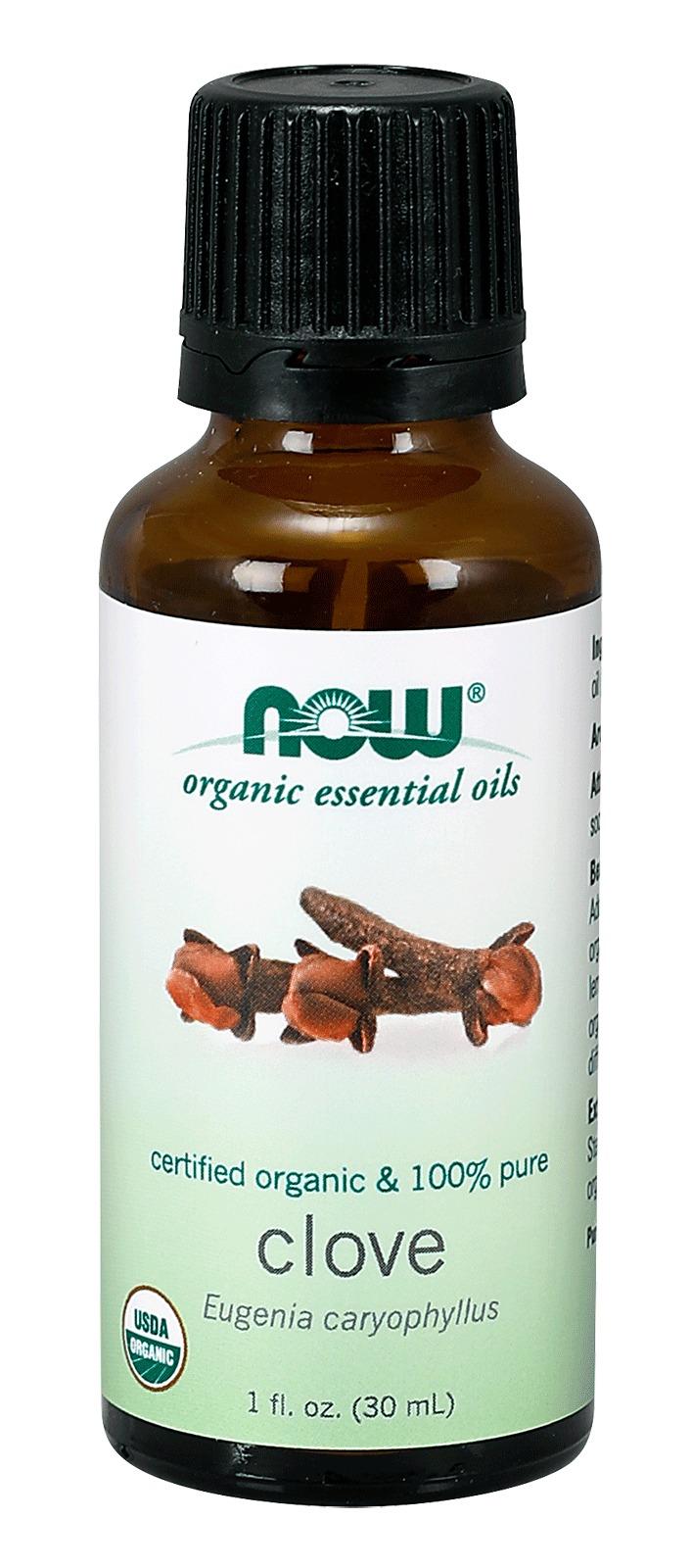 Clove Oil Bud Organic Now Foods 1 oz Liquid