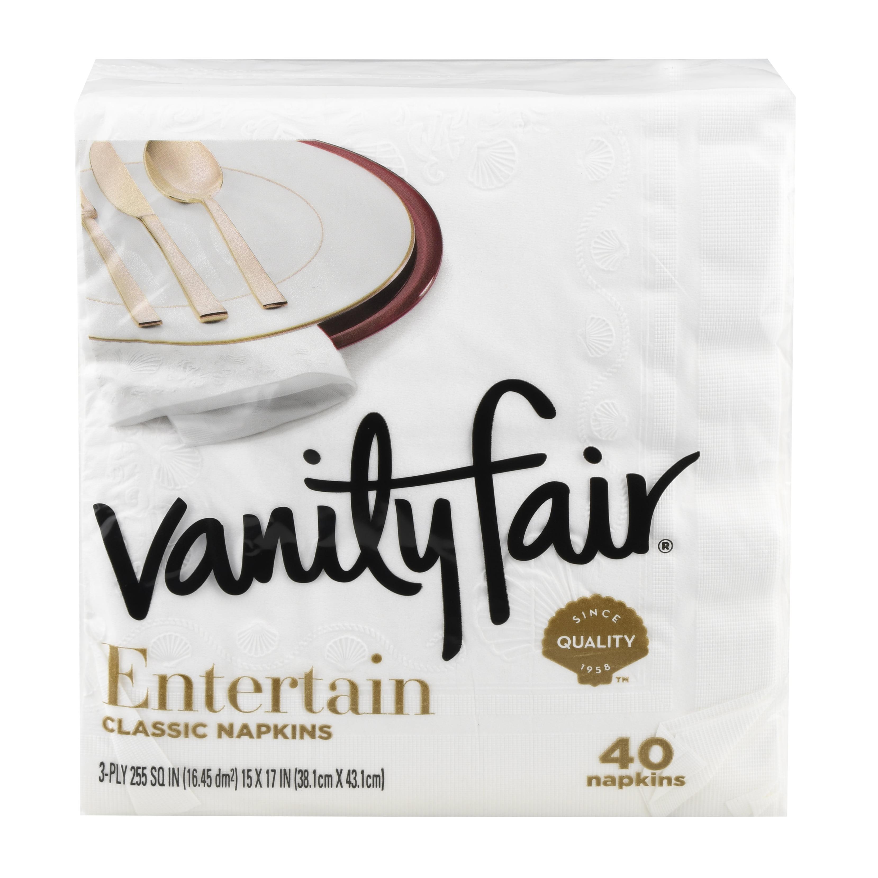 Vanity Fair Impressions Paper Napkins 40 Count Walmart Com