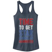 Chin Up Juniors' 4th of July Get Star Spangled Hammered Racerback Tank Top