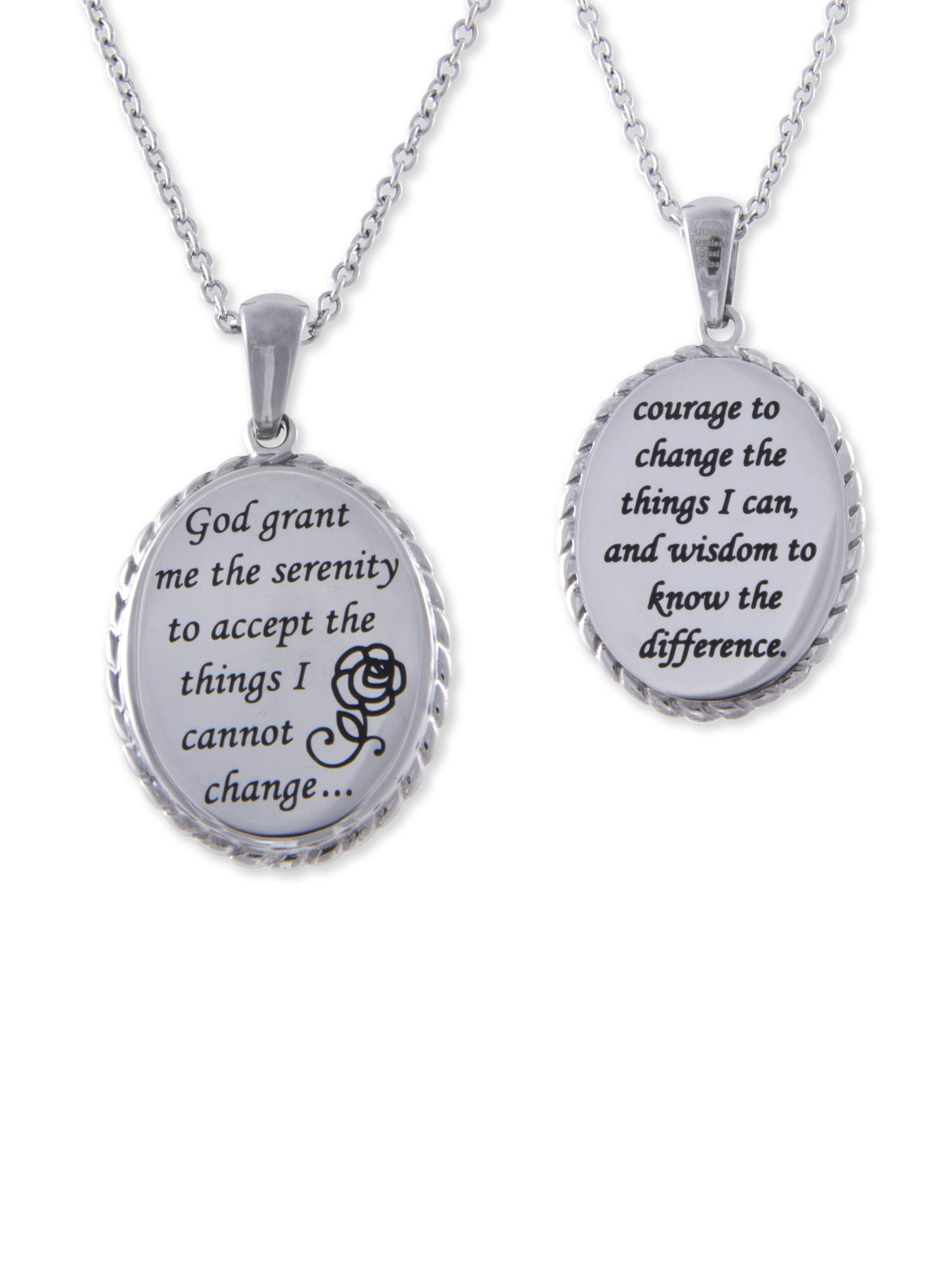 cross serenity dog tag w silvercross necklace nicodium antique prayer