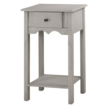 Jay 35 43 Tall End Table With 1 Full Extension Drawer In Gray Wash